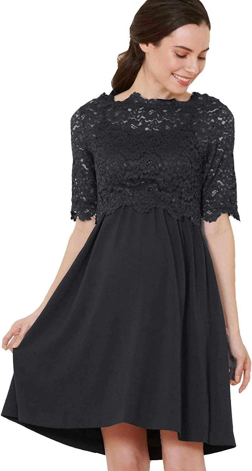 Sweet Mommy Maternity and Nursing Lace Formal Baby Shower Dress
