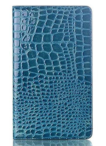 Slimbook Schutzhülle für Samsung Galaxy Tab S 8,4 Zoll SM-T700, Krokodilmuster, Blau