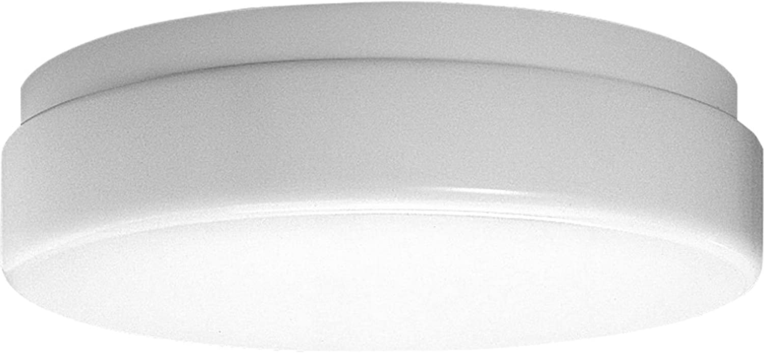 Progress Lighting P7373-30 Acrylic Diffuser UL Approved for Damp Locations Rapid Start 120 Volt High Power Factor Ballast, White, 19-Inch Diameter x 4-1 4-Inch Height,