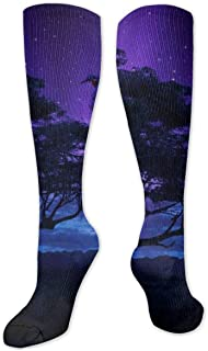 SXCVD Angry Black Panther Wallpaper High Performance Athletic Casual Long Sock for Women and Men - Fit for Travel,Running,...