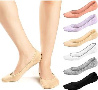 6 pares de calcetines invisibles antideslizantes para mocasines y barcos, 6 pares