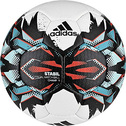 adidas Stabil Champ 9 Handball (Größe: 1 (Jugend),white/black/energy blue s17/energy s17)