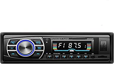 DONGMAO Autoradio Bluetooth,12V / 24V Pantalla OLED Bluetooth FM Turner Aux-in Soporte Bluetooth USB/SD/MMC Lector de Tarjetas Reproductor de MP3 1DIN + ISO Conector
