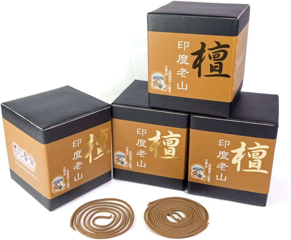 Indo LaoShan Sandalwood Incense Coils (4)