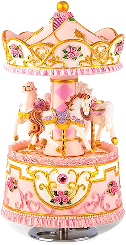 For Girls Music Box Merry-Go-Round LED 6 7 8 9 10 11 Year Old Kid Birthday Toys