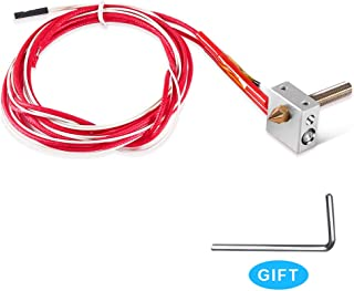 MK8 Hot End Extruder Nozzle Kit 0.4mm for 3D Printer,Assembled Extruder Brass Kits 1.75mm,30mm A8 Throat Teflon Tubing Aluminum Heater Block for RapRep i3 Anet A2 A8 3D Printer Part Replacement
