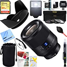 Sony (SEL50F14Z Zeiss Prime Full-Frame Planar T FE 50mm F1.4 ZA Lens + 64GB Ultimate Filter & Flash Photography Bundle
