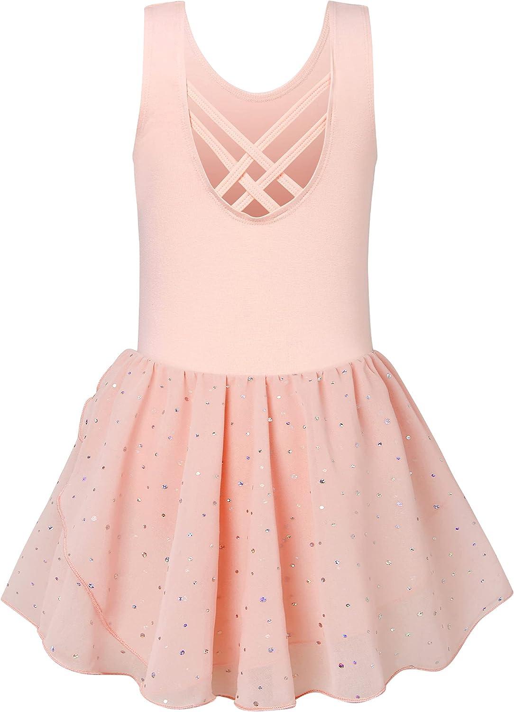 Kids4ever Girls Ballet Challenge the lowest price of Japan OFFer Leotards for Criss-C Kids Dance Back 3-9T