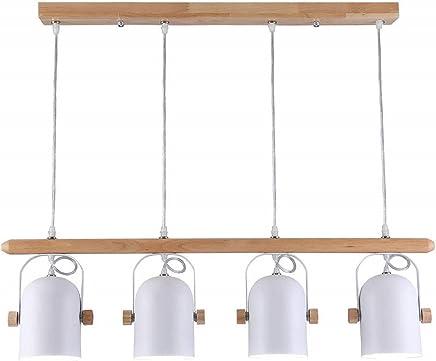 colgante madera Comedor EYLM de Lámpara Lámpara LED colgante 35RA4jL