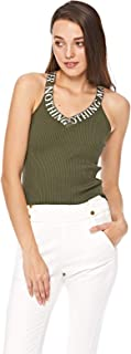 2Xtremz Intarsia Text On Straps Tricot Top for Women