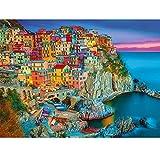 Vimzone 1000 Pezzi Jigsaw Puzzle- Cinque Terre Case colorate italiane, Puzzle da Pavimento con Stampa ad Alta Definizione per Adulti Bambini Cresciuti, Puzzle Giochi Educativi Ideali