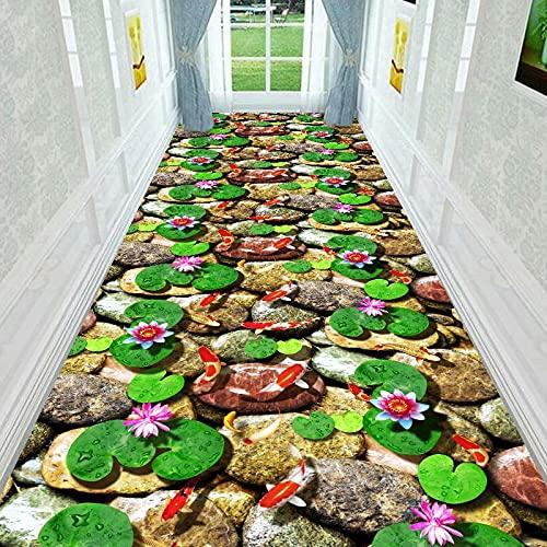 3D Small Stream Stone Serie Bedruckter Teppich Dick Wasserdicht rutschfest Maschinenwaschbar Geeignet Für Korridore Eingänge Und Erker
