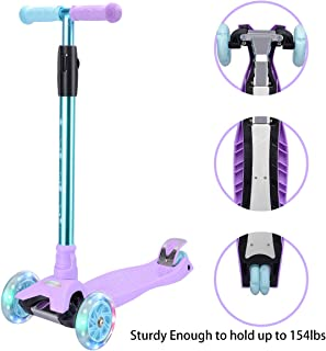 WV WONDER VIEW WonderView Kick Scooter Kids 3 Wheel Scooter, 4 Height Adjustable Pu..