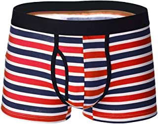DEESEE(TM) Men's Briefs,Crude Stripe,Soft Breathable, Knickers Short Sexy Underwear