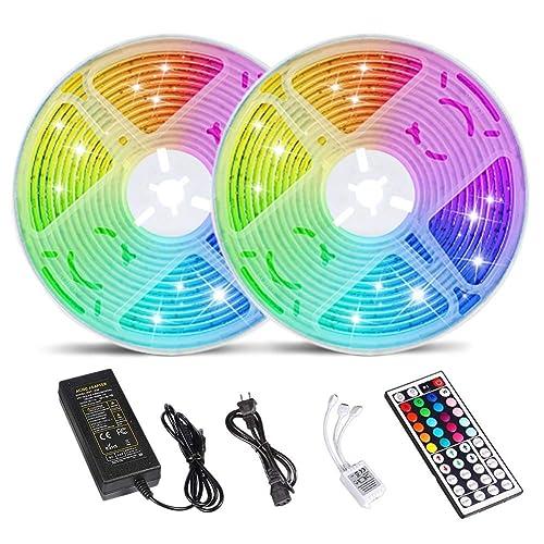 Litake LED Strip Lights 32.8ft, Waterproof Color Changing RGB LED Light Strips Kit,SMD 5050 300 LEDs 44 Keys IR Remote Control Flexible LED Tape Strip Lights for Bedroom Home TV Party