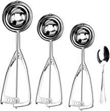 Cookie Scoop for Baking Set of 3, Ice Cream Scoop Set, Cookies Dough Scooper Including Large-Medium-Small Size, 18/8 Stain...