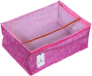 Kuber Industries Non Woven Saree Cover, Pink (KUB573)