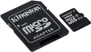 بطاقة ذاكرة فلاش Kingston Canvas 32GB microSDHC Class 10 microSD Class UHS-I 80MB/s R مع محول (SDCS/32GB)