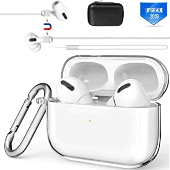 Amazon Com Valkit Compatible Airpods Pro Case Cover Clear Airpod Pro Protective Case 2019 With Keychain Shockproof Cover Case For Apple Airpods Pro Charging Case 3rd Gen Front Led Visible Transparent Electronics