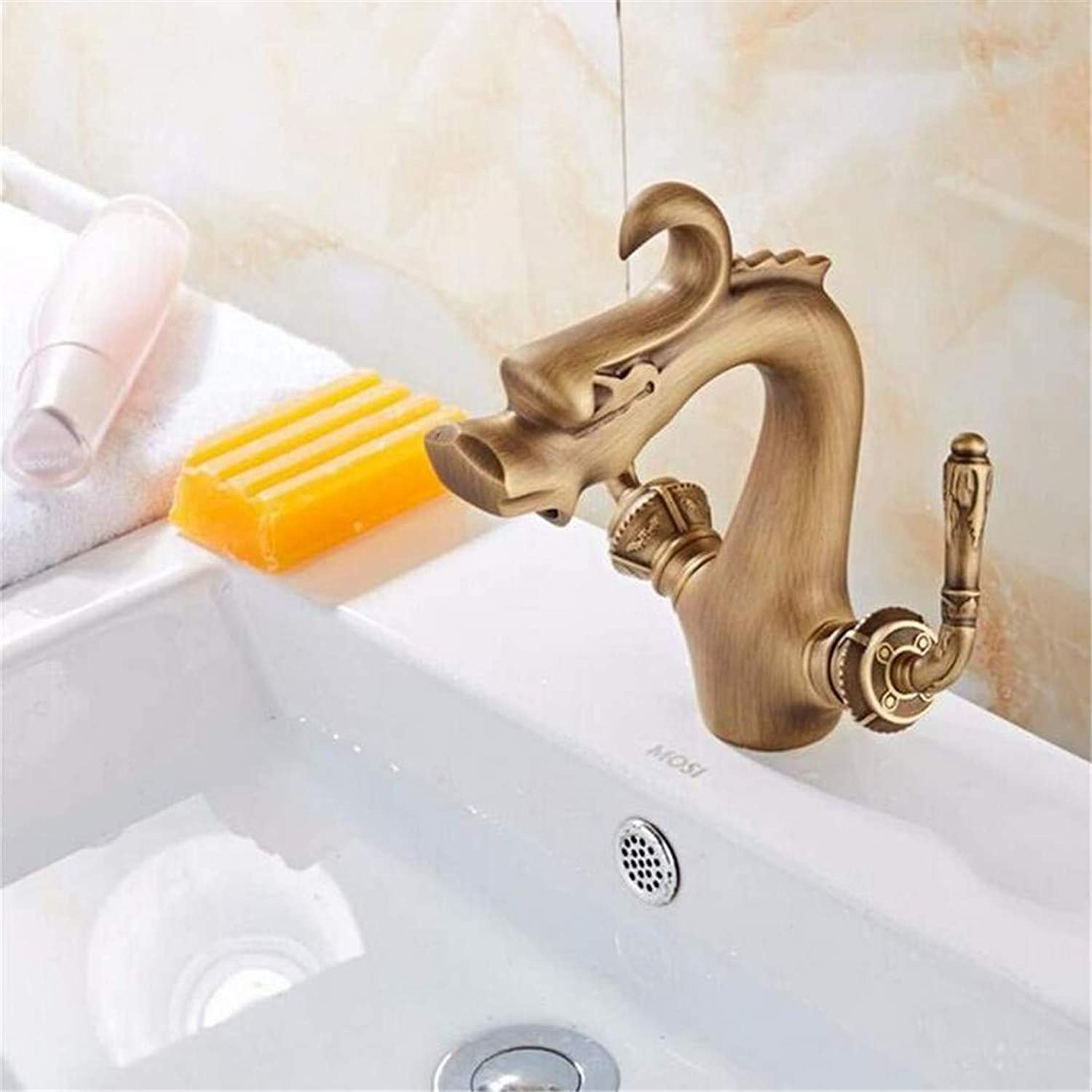 Retro Tap Modern Luxury Copper Mixer Retro Home Full Brass Faucet Basin Mixer Hot & Cold Bathroom Faucet