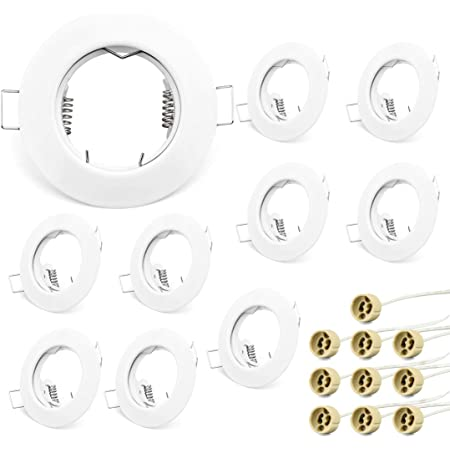 Installation Cadre Pivotant Alu acier inoxydable optique Ø 68 mm avec gu10 Douille par16 Spots