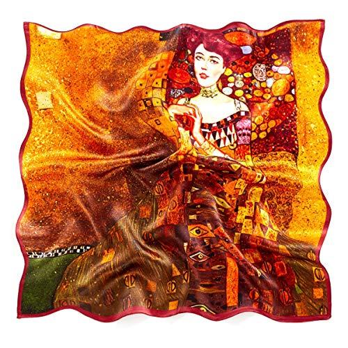 prettystern Bandana Seide Nickituch Halstuch Malerei Kunstdrucke Gustav Klimt Porträt Adele Bloch-bauer P260