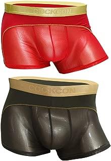 Laxier Men Boxer Briefs Shorts Bulge Pouch Soft Underpants Mens Trunks Mesh Underwear for Male Pack of 2