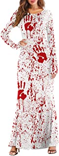 CUCUHAM women Long Sleeve Pumpkins Halloween 3D Print Casual Party Long Maxi Dresses