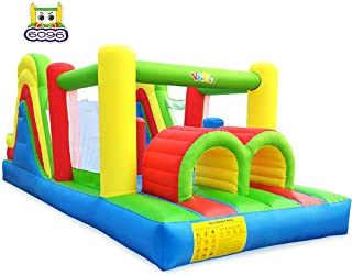 YARD Inflatable Bounce House with Blower Large Obstacle Course Slide Climbing Wall Combo 6 in 1