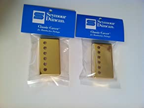 Seymour Duncan Classic Cover Gold Humbucker Pickup Covers Pair of 2