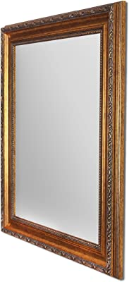 Painting Mantra Synthetic Art Street Royal Decorative Wall Mirror, 6 x 20-inch (Gold)