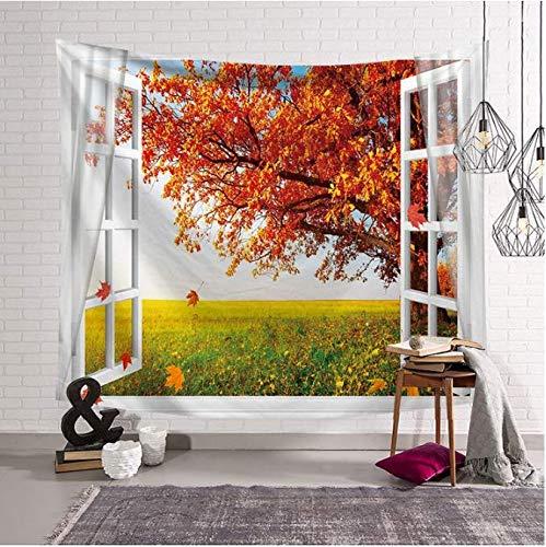 Öffnen Sie das Fenster Home Decor Wall Tapestry Haus Hängen Fairyland Tapisserie Strandteppich Picknickdecke Decke 150 x 200 cm