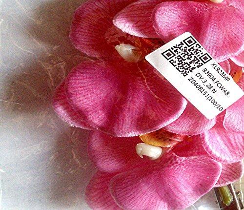 Unbekannt Pinker Schmetterling Orchidee Haarclip. Großer Haarblumen zeig.