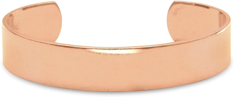 FB JEWELS Polished Solid Copper Cuff Bracelet