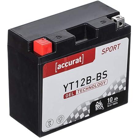 Accurat Motorradbatterie Yt12b Bs 10ah 160a 12v Gel Technologie Starterbatterie In Erstausrüsterqualität Zyklenfest Sicher Lagerfähig Wartungsfrei Auto