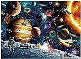 Blanriguelo Rompecabezas Adultos 1000 Piezas Jigsaw Puzzle Lanzamiento de Inteligencia Colorido de Latoco Spaceman niños y Adultos Juegos de Bricolaje