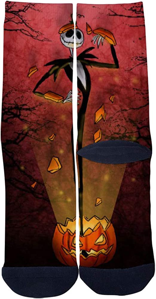 Halloween and pumpkin Socks Mens Womens Casual Socks Custom Creative Crew Socks