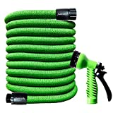 Junredy 25ft Garden Hose Expandable Flexible Water Hose with 7 Function Spray Nozzle | Durable 3750D...