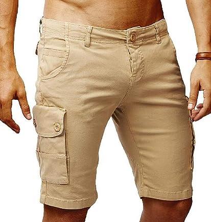 fe8fa489b5 Zantt Men's Stylish Multi Pockets Outwear Sports Plain Cargo Short Pants