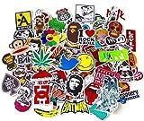 Graffiti Autocollant,Stickers Marque Moto Skateboard 100pcs Autocollant Voiture Vinyle,Autocollant aléatoire Idéal pour Stickers Ordinateur Portable Voyage,Vélo,Valise,Guitaire,Casque Autocollant Bomb