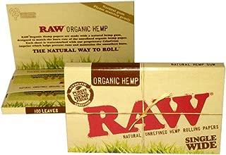 RAW(ロー) オーガニックヘンプ ダブル ペーパー 100枚入り ×10個セット 手巻きタバコ 喫煙具