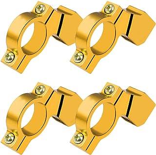 Garneck 4 peças de suporte para guidão de motocicleta, espelho, extensor, suporte de extensão retrorrefletor, dourado