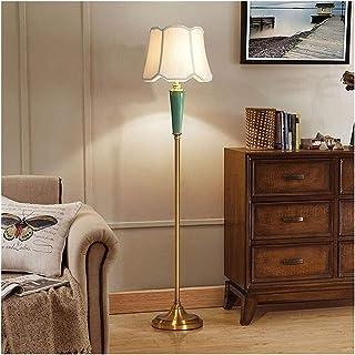 YANSW Lampadaires Lampadaire Vertical Céramique Tissu Lampe de Table de Luxe Maison Hôtel Restaurant Éclairage Décoration ...