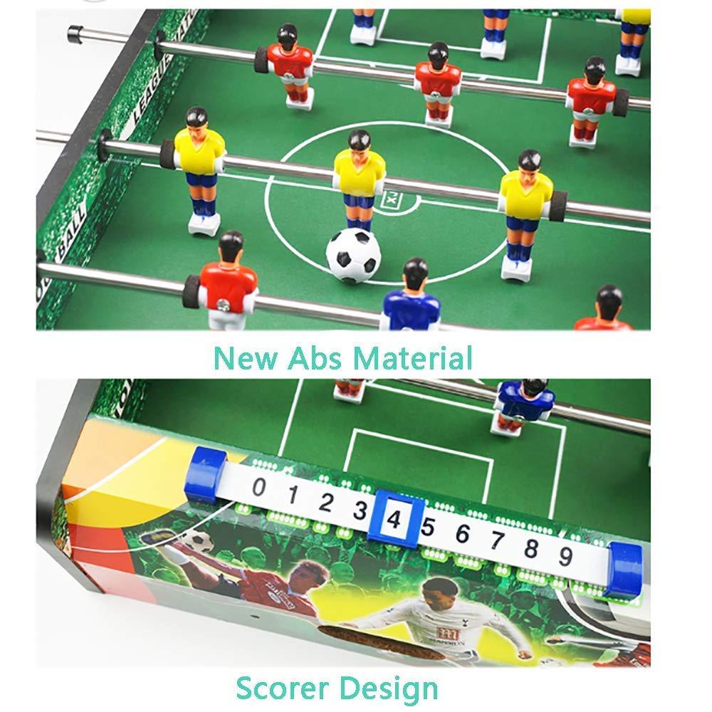 MJ-Games Futbolín de fútbol de Mesa/Futbolín de Mesa, Mini Deluxe ...