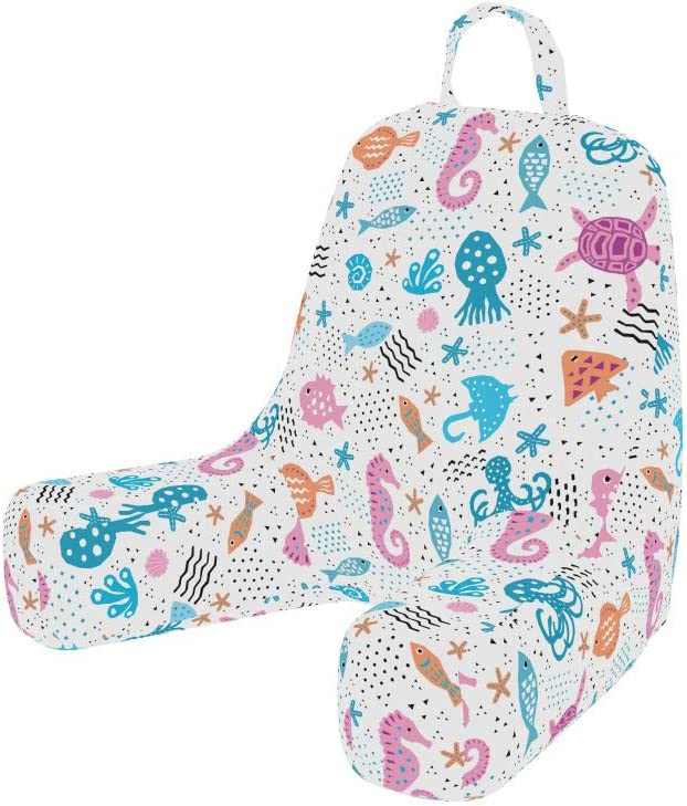 Ambesonne Aqua Jellyfish Bedrest Easy-to-use Sales results No. 1 with Inspire Back Pocket Cutsy
