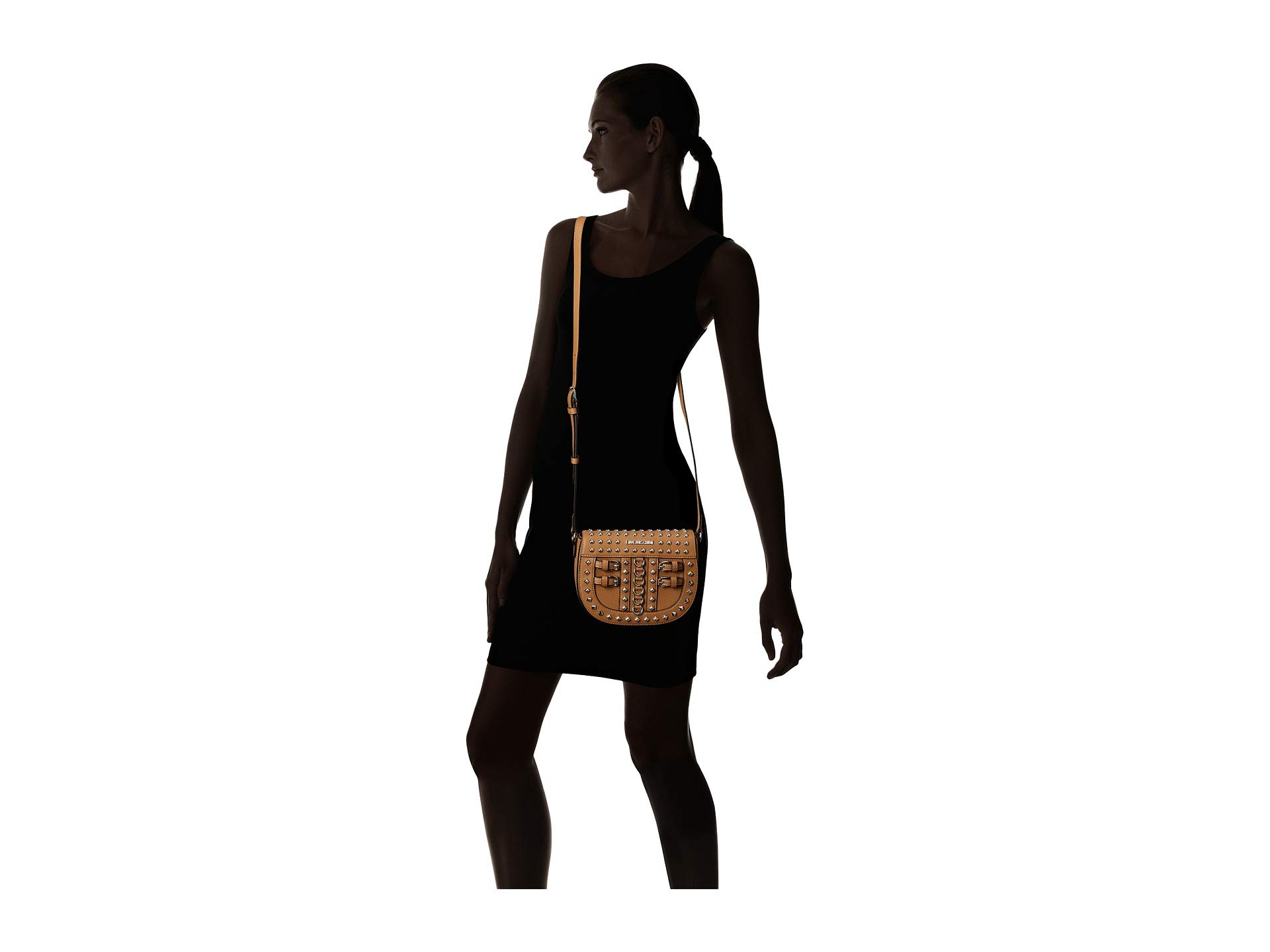 Love Bag Belt Crossbody Studs Camel With Moschino rqrSP