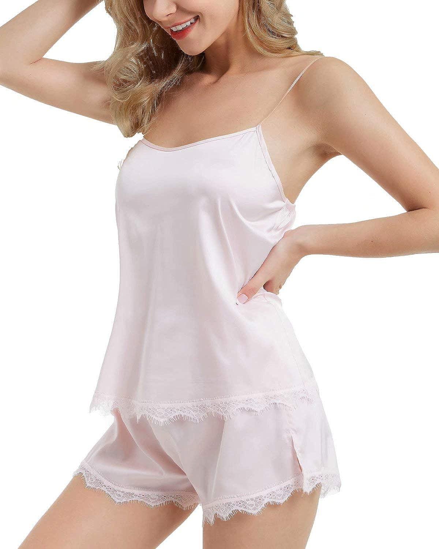 trust DIASHINY Women's pj Shorts Set Lace Satin Cami Silky Pajamas Super popular specialty store