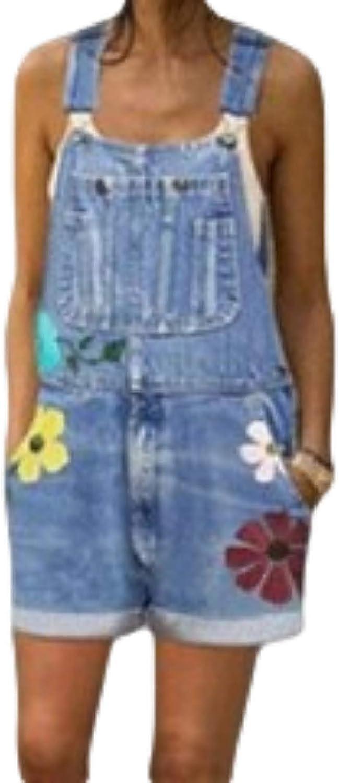 Women's Stylish Washed Printed Denim Shorts Summer Slim Fit Retro Trendy