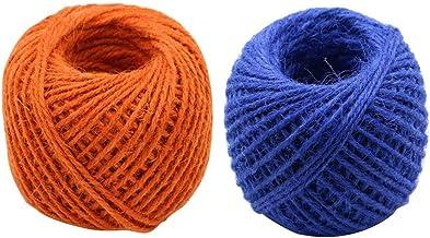 Set of 2 Natural Decorative Hemp Rope Hand Woven Jute Rope,Colorful,50M
