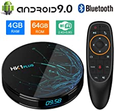 $72 » NewPal Android TV Box, HK1 Plus 4K Smart TV Box Android 9.0 with Amlogic S905X2 Quad Core DDR3 4G/64G Voice Remoted Support 2.4G/5G WiFi Streaming Media Player